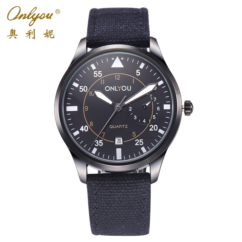 Onlyou Brand Mens Sport Watches Linen Strap Male Clock Relogio Masculino Esportivo Unique Gifts Wrist Watches For Men 85002<br><br>Aliexpress