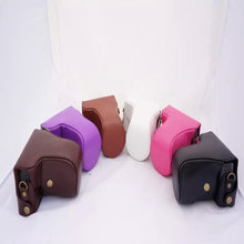 Black/White/Pink/Brown/Coffe/Purple Camera Case Bag Leather Case Cover for Canon EOS M M2 DSLR Camera Free Shipping