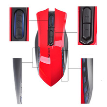 Hot sell 2.4G wireless transmission can reach 10m barrier-free distance mause gamer mouse com fio Snow(China)