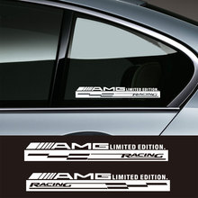 2pcs AMG Racing Decal Window Vinyl Sport Logo Stickers for Mercedes Benz Class