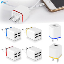 2016 3A 4 Port USB 5V Wall Charger Adapter for iPhone Phone Tablet US/EU Plug