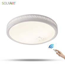 SOLFART surface mounted modern ceiling lights dimming remote control led ceiling lights for kitchen study room bedroom ps6358(China)
