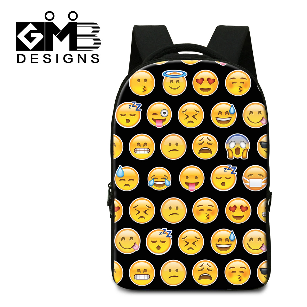 Dispalang 3D emoji expression printed computer laptop back pack men travel business office bags smiling face pattern school bags<br><br>Aliexpress