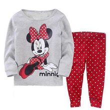 Kids Baby Girl Cartoon clothes suit Toddler Minnie minie Baby Kid Girls Nightwear Pajamas Pyjamas Spring Fall Sleepwear Suit