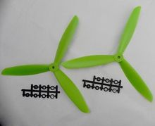 1 pair=2 pcs NEW 1045 10*4.5 3-blade Counter Rotating Propeller CW CCW 3 Blade Green Quadcopter Multicopte