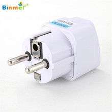 Hot-sale BINMER Universal UK US AU to EU AC Power Plug Travel Charger Adapter Outlet Converter Gifts