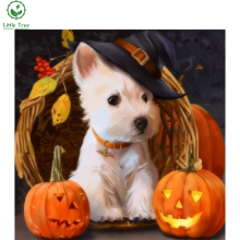 little tree 3d diamond embroidery cross stitch kits lovely pumpkin puppy laid out full square diamond painting mosaic handicraft(China)