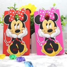 1pc Luxury Cartoon Mickey Minnie Cute Case For Nokia X2 X2 Dual SIM RM-1013 for Nokia X2DS 3D Silicone Phone Case Cover Back New