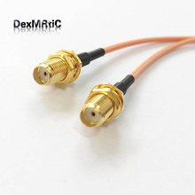 "SMA male  to 2X SMA female jack nut Y type Splitter Combiner Pigtail cable RG316 15CM 6"" for wifi router"