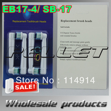 Factory price+Wholesale 4000pcs EB17-4/SB-17 Asoft bristles,electric toothbrush head with English Neutral package free shipping(China)