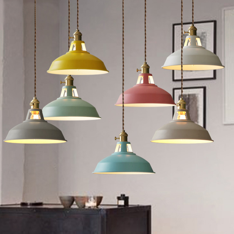 Modern LED Pendant Lights Multicolour Dining-room Pendant Lamp Luminaire Restaurant Hanging kitchen Light Fixtures Lustres Loft<br>