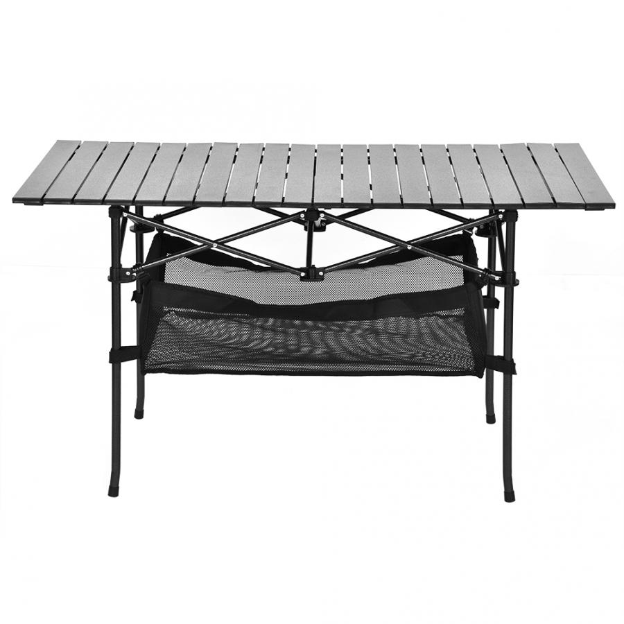 Aluminium Folding Camping Table Portable Desk Outdoor Garden Picnic title=