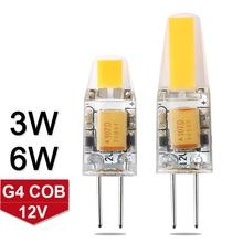 Mini Dimmable G4 LED Lamp 12V DC/AC 3W 6W LED G4 Bulb Chandelier Light Super Bright G4 COB LED Light Lampada LED Replace Halogen(China)