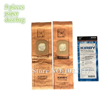 9 pieces/lot Vacuum Cleaner Parts Genuine Dust Bag Paper Filter Bags for Kirby G10E Ultimate Diamond G7E