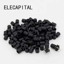 100pcs/lot Black Plastic Cap Hat G62 for 6*6mm Tactile Push Button Switch Lid Cover Free Shipping
