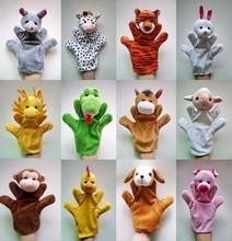 12Pcs/Lot Funny Hand Puppets For Kids Plush Hand Puppets For Sale Chinese Zodiac Style Cartoon Hand Puppets Large Size(China)