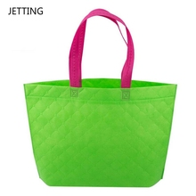 JETTING Solid Resuable Fabric Shopping Bag Women Lady Candy Colors