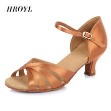 2017Brand Stylish Simple High Quality Ballroom Latin Tango Dance Shoes for Women Ladies Girls 5CM heel Wholesale Black Brown(China)