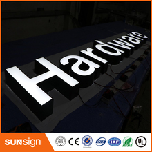 Front-lit stainless steel led channel letter sign for store(China)
