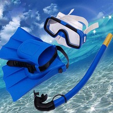 Children Diving Glasses Scuba Snorkeling Set Outdoor Snorkel Breathing Tube Swimming Fins Flippers Underwater Diving Mask