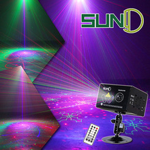 SUNY DJ Laser Light RGRB Multi Gobos Projector RGB Full Color LED Ripple Stage Lights W80RGRB Show Household Decoration Lighting