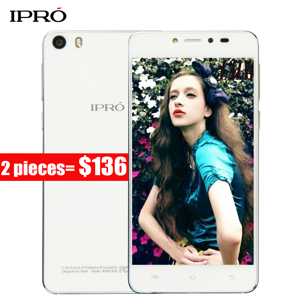 Original IPRO ACRO A58 2GB RAM 16GB ROM 5 inch 5.85mm ULTRA-THIN Smartphone Quad Core Android 5.0 OS Camera 5MP+13MP Cellphone(China)