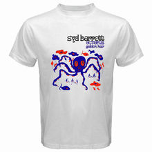 New Syd Barrett Octopus Golden Hair Album Men's White T-Shirt Size S to 3XL Summer Short Sleeves Cotton T-Shirt Fashion(China)