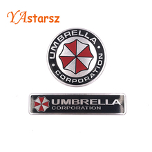 3D Stickers Aluminum Umbrella Corporation Car Sticker and Decals 2 Types Car Styling 3D Car Decor For BMW AUDI VW Ford Stickers