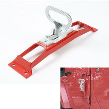 BBQ@FUKA 1PC Auto Car Door Hinge Hinges Foot Rest Pegs Pedal Fit For Jeep Wrangler JK 2007-2016 No Drilling Exterior Mouldings(China)
