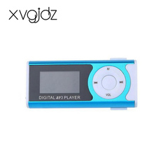 Xvgidz High sell Mini Clip LCD Screen MP3 Music Media Player With Micro TF+USB data line+LED light sport USB portable mp3 player