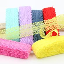 10yar 28MM/Wide lace ribbon,Braided Cotton Mesh DIY Handmade,Wedding Party/Craft & Gift Packing/Child Dress/Decoration(China)