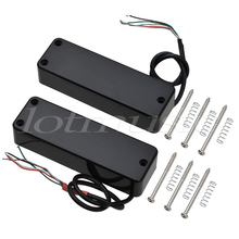 4 String Electric Bass Guitar Pickups Humbucker Double Coil Bridge and Neck Pickup Set Black(China)