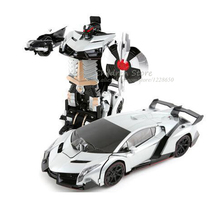 RC Transformation Cars Robots Remote Control Sound Light Dance Transform Toy 8 Electric Car Models Boy Birthday Gift Action Toy