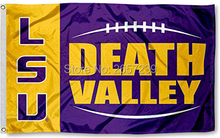 LSU Tigers Large Death Valley Flag 3x5FT NCAA banner 100D 150X90CM Polyester brass grommets custom66, Free Shipping(China)