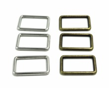 (10 pieces/lot) .Rectangle Metal Dee Ring D 25mm Silver buckle. Luggage buckle. Square button . Fasteners diy accessories(China)