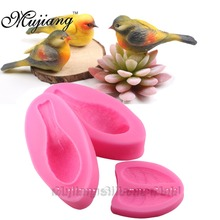 Mujiang Cute 3D Bird Fondant Cake Decorating Tools Sugarcraft Silicone Mold Kitchen Baking Gumpaste Chocolate Moulds XL330 - Bing Cui Export Co., Ltd. store