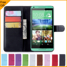 New Luxury Wallet Flip PU Leather Cell Phone Case Cover For HTC Desire 816 816G Dual Sim Case Shell Back Cover With Card Holder(China)