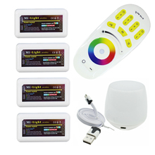 Milight RGB RF Remote Controller + 4PCS 4 Zone RGB Controller Box + Led WiFi Controller For 5050 3528 RGB Led strip Or LED Bulbs