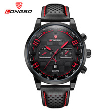 LONGBO Top Brand Fashion Business Sports Wristwatch Dynamic Dial Date Calendar Watch Leather Strap Male Clock Relogio Masculino(China)