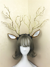 Custom-made Women Girl Christmas Deer Ear Headband Party Goth Tree Branches Hair headbands Cosplay Accessories