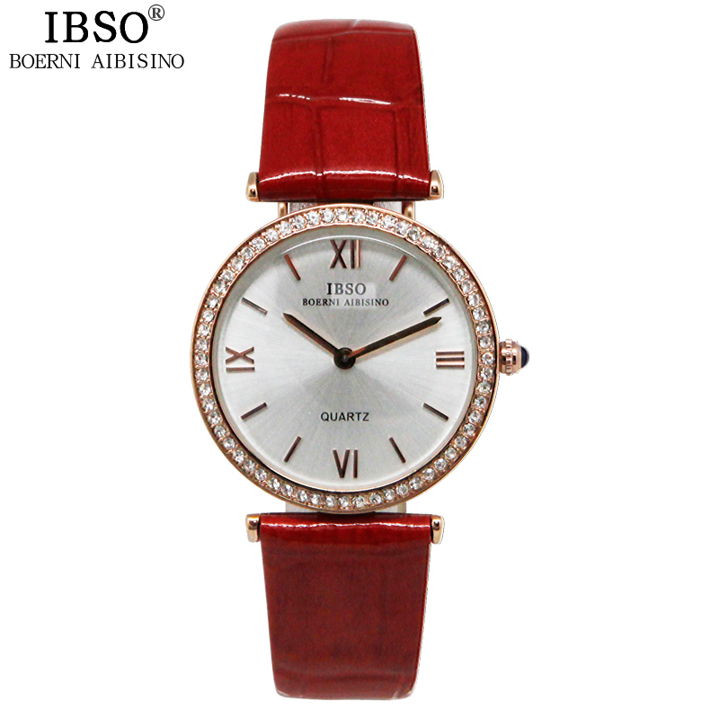 IBSO High Quality Elegant Date Quartz Watch To Woman Leisure Travel Shock Resistant WatchThe Women Luxury Office Relojes Mujer<br><br>Aliexpress