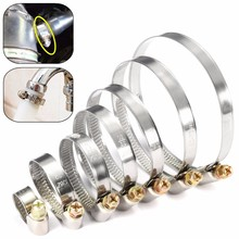 MTGATHER Pipe Clamps Genuine Jubilee Stainless Steel Hose Clips Fuel Hose Pipe Clamps Worm Drive Durable Anti-oxidation