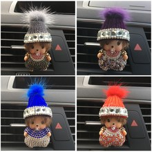 Lovely hat Kiki car decoration Perfume Winter plush car styling Air Freshener Christmas gifts for women Auto perfume clip