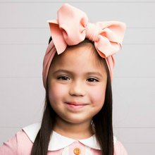 7 Inch Big Bow Headbands Solid Large Hair Bows girls Elastic Turban Head Wraps Kids Top Knot Hairband DIY Hair Accessories(China)