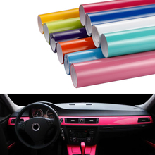 50x200cm Bright Glossy Vinyl Film High Glossy Decoration Color Change Car Wrapping Foil Sticker DIY Automobiles Motorcycle Decal(China)