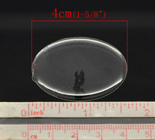 "8SEASONS Clear Oval Epoxy Domes Resin Stickers 4x3cm(1-5/8""x1-1/8""), sold per packet of 60 (B17532)(China)"