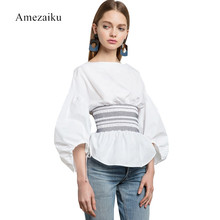 Buy lantern Sleeve woman Tops Women Fashion White Blouse Ladies Elegant Tops Clothing Shirts Tops Female Clothes Blouses Shirt for $19.46 in AliExpress store