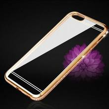 CZ Diamond Crystal Frame Electroplating Soft TPU Back Cover For iPhone 7 For iPhone 5S 6 6S 7 Plus Hot Transparent Phone Case