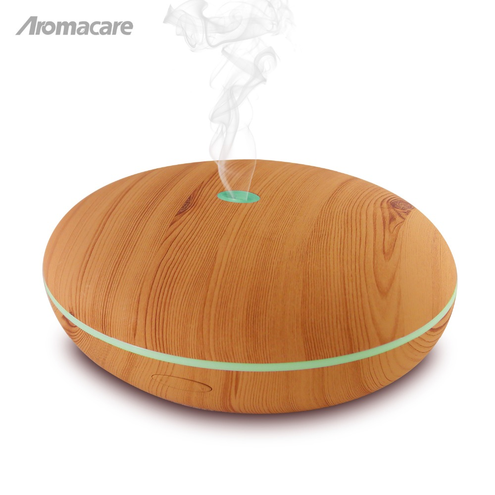 Aromacare Free Shipping 400ml Aromatherapy Essential Oil Diffuser Mini Aroma Diffuser Cool Mist Air Humidifier Wood Grian <br>