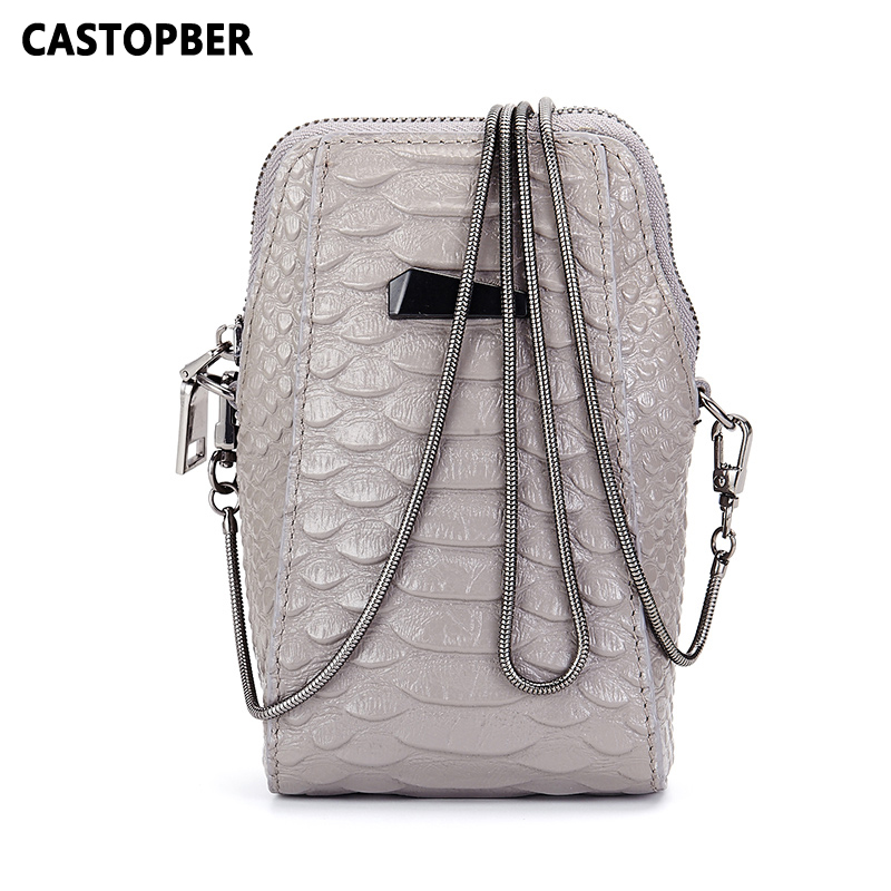 Fashion Brand Mini Small Bags Women Messenger Bag Genuine Leather Chain Crossbody Handbags Crocodile Alligator Cowhide Phone Bag<br>